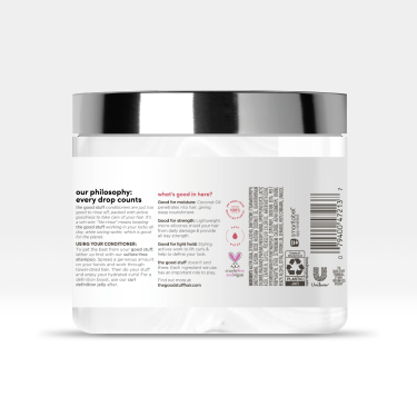 Back of pack The Good Stuff Curl Hydration Butter 8.53 oz